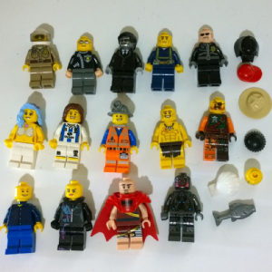 Lego collection of  minifigures various types and accessories